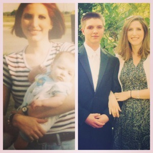 Jamie and Collin 1996, then 2012